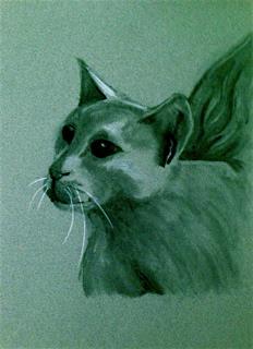 Cat who turned into a gargoyle