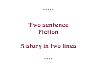 Two sentence