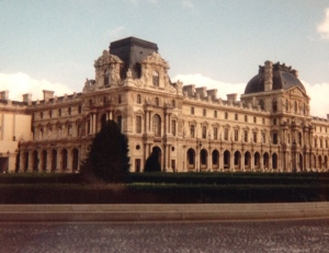 The distinctive buildings of the Louvre palace complex were built prior to the French revolution