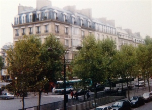 Many of the distinctive grey-roof buildings of Paris were built in the later part of the 19th century