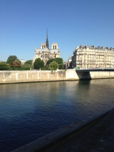 View of Notre Dame Cathedral from Ile St Louis