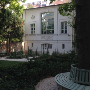 The private garden behind the Delacroix Museum, Left Bank, Paris
