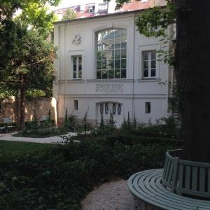 The private garden behind the Delacroix Museum, Left Bank, Paris